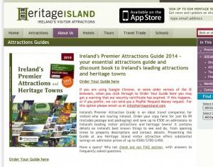 page de présentation du guide Heritage Island