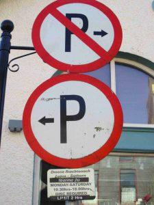 parking panneau irlande
